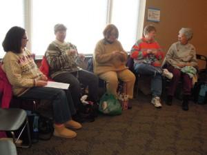 Knitters knitting