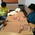 Making fleece scarves