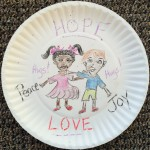 Hope Peace Joy Love plate