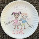 Hope Peace Joy Love plate