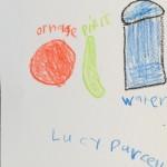Food & Water coloring card