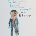 No More Racism coloring card