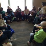 The big knitting circle!