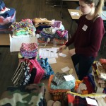 Volunteer Rowan with handmade (mostly) warm items